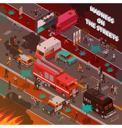 Street war isometric vector