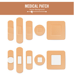 Medical patch  two sides adhesive vector