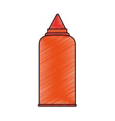sauce bottle icon image vector image
