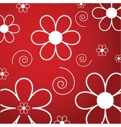 flowers and swirls vector image