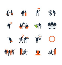 Business people icons management human resources vector