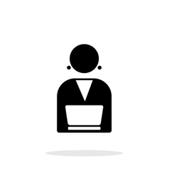 Broadcaster icon on white background vector