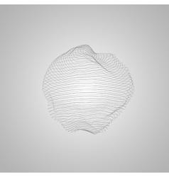 3d illuminated distorted sphere vector