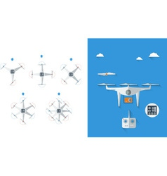 Quadrocopter infographic 01 vector