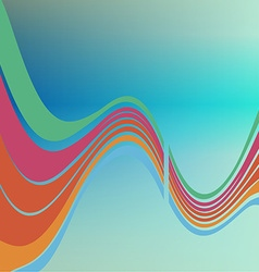 Colored waves vector image