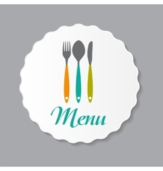 Restaurant menu label template vector