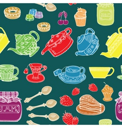 Afternoon tea print vector
