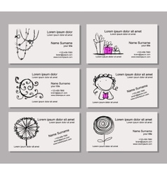 Business card template for your design vector image