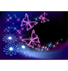 glowing transparent vector image