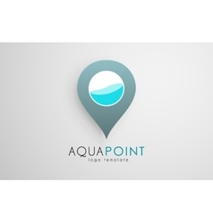 Aqua logo design Aqua point Water logo design vector image