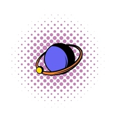 Saturn icon comics style vector