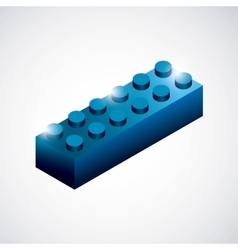 Piece of lego icon game design graphic vector