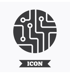 Circuit board sign icon technology symbol vector
