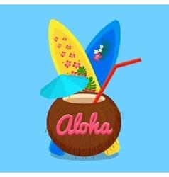 Aloha Hawaii carefree happy life vector image