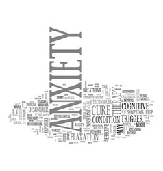 Anxiety attacks text word cloud concept vector