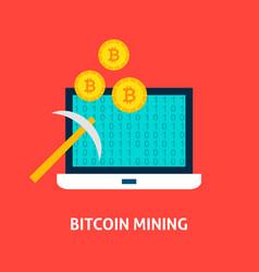 bitcoin mining concept vector image