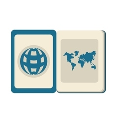 Blue passport identification international travel vector