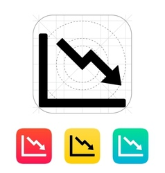 Chart down icon vector image vector image
