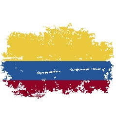 Colombia grunge flag vector image vector image