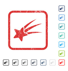Falling star icon rubber watermark vector