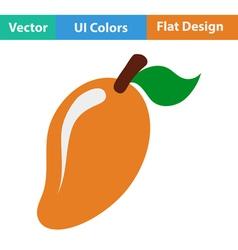 Flat design icon of Mango vector image vector image