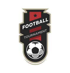 football tournament soccer logo vector image vector image