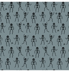 Funny Skeletons pattern vector image