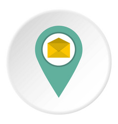 Geo tag mail icon circle vector