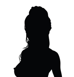 girl black silhouette in hot poses vector image