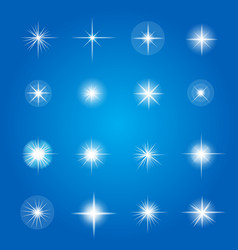 Glowing lights and stars vector