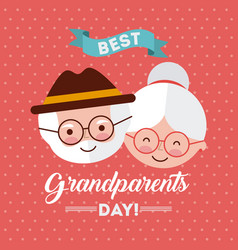 Grandparents day design vector