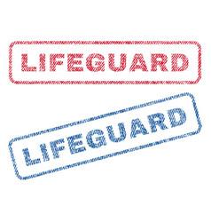 Lifeguard textile stamps vector