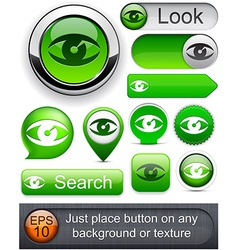 Look high-detailed modern buttons vector