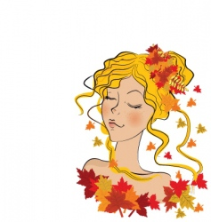 nature lady vector image