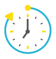 Overtime flat icon business and clock vector