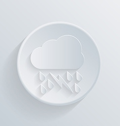 paper circle flat icon cloud rain lightning vector image vector image