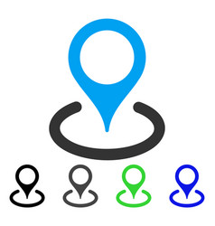 Place marker flat icon vector