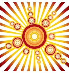 Retro Sun Background vector image vector image