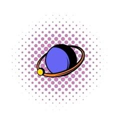 Saturn icon comics style vector