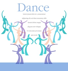 Dance art template vector
