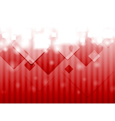 Bright red hi-tech background vector image