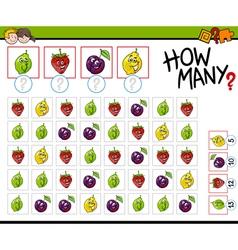 How many fruits activity vector
