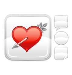 Happy valentines day romance love cupid arrow vector