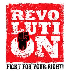Revolution socialprotest creative grunge vector