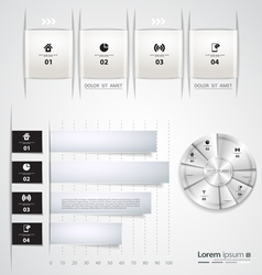 Modern set infographic template vector