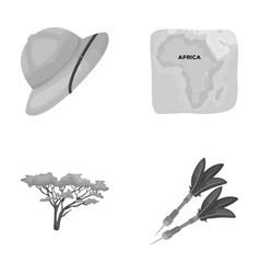Cork hat darts savannah tree territory map vector