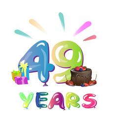49th years anniversary celebration design vector