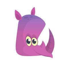 Cartoon rhino head vector