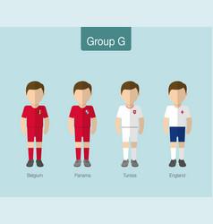 2018 soccer or football team uniform group g vector image