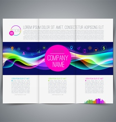 Multicolored template leaflet page design vector